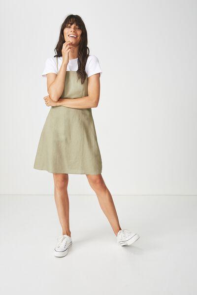 Woven Krissy Dress, SILVER SAGE - L