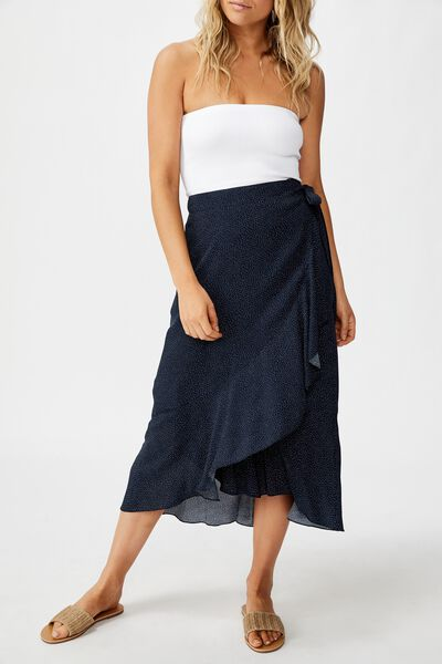Ella Midi Skirt, ROSIE SPOT TOTAL ECLIPSE
