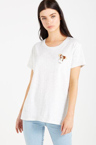 Tbar Fox Graphic T Shirt, LCN GREMLINS GIZMO/SILVER MARLE