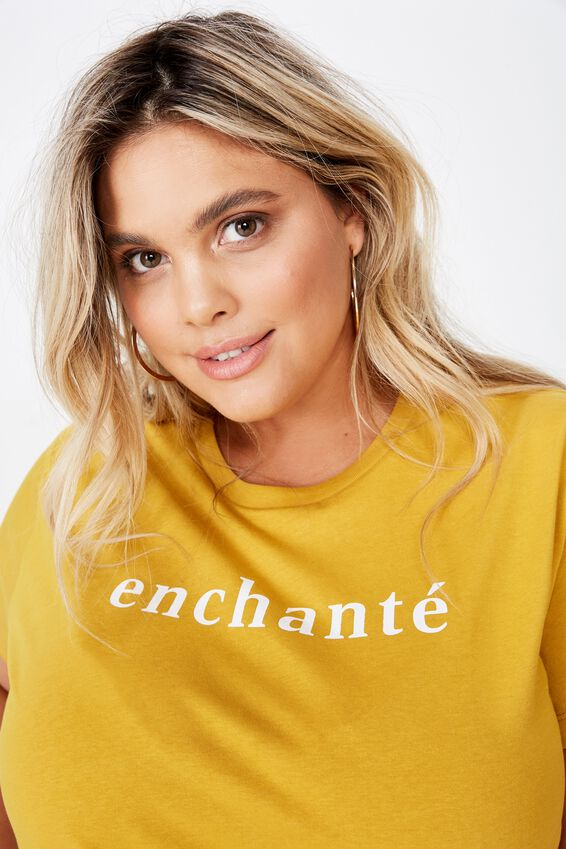 Curve Graphic Tee, ENCHANTE/TAWNY OLIVE