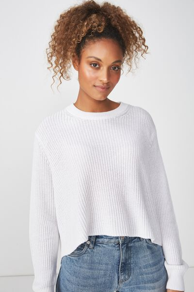 Archy Cropped 2 Pullover, WINTER WHITE