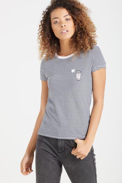 Tbar Hero Graphic T Shirt, BOY REPELLENT MOONLIGHT STRIPE/WHITE
