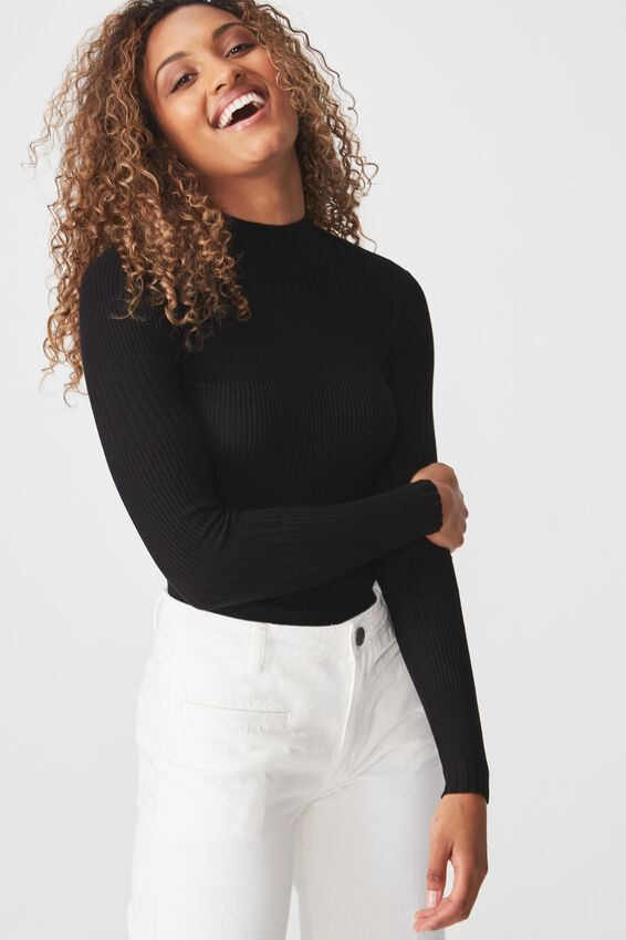 Quinny Varigated Ls, BLACK