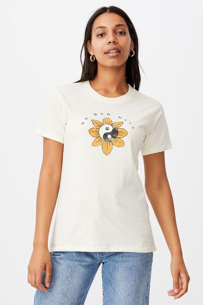 Classic Arts T Shirt, NO BAD DAYS/LEMON SORBET