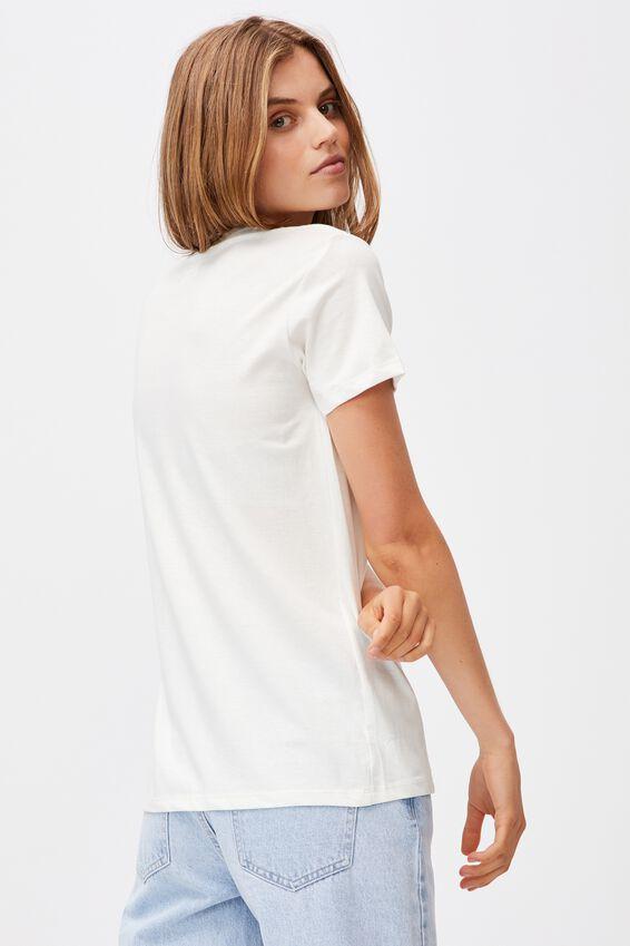 Classic Pop Culture T Shirt, LCN SAN GUDETAMA K THANKS BYE/CHALK WHITE