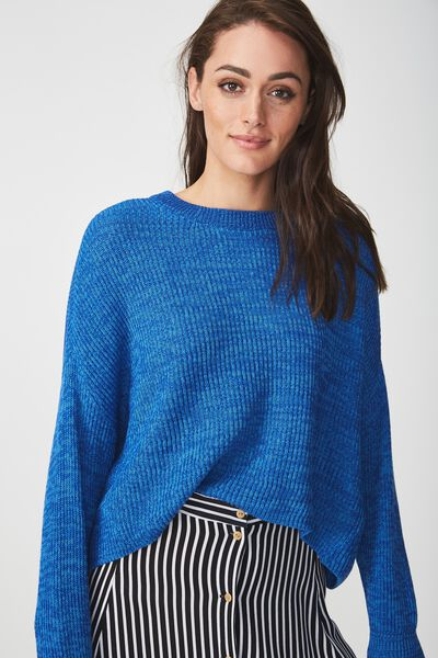 Archy Cropped Pullover, CAMPANULA/SURF THE WEB TWIST