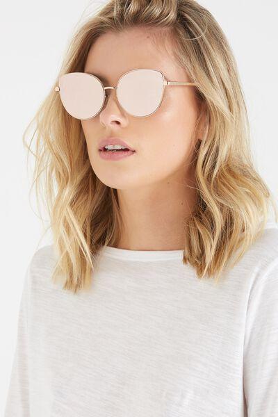 Amaze Flat Lens Sunglasses, ROSE GOLD/ROSE GOLD