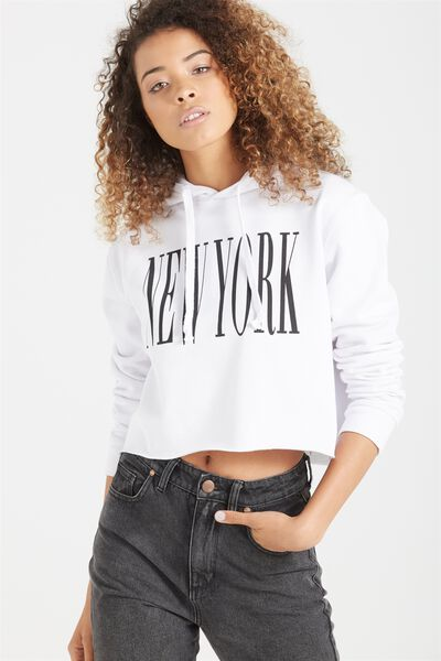 Nicki Chop Hoodie, NEW YORK/WHITE