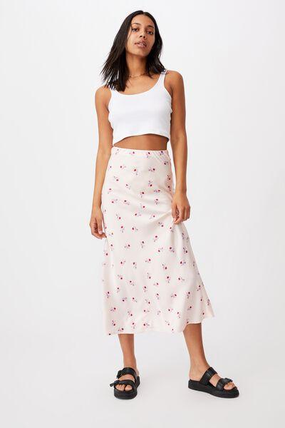 All Day Slip Skirt, ARABELLA FLORAL SOFT PINK