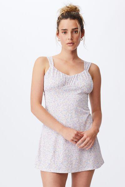 Georgie Ruched Front Skater Dress, KENDELLE DITSY CANDY