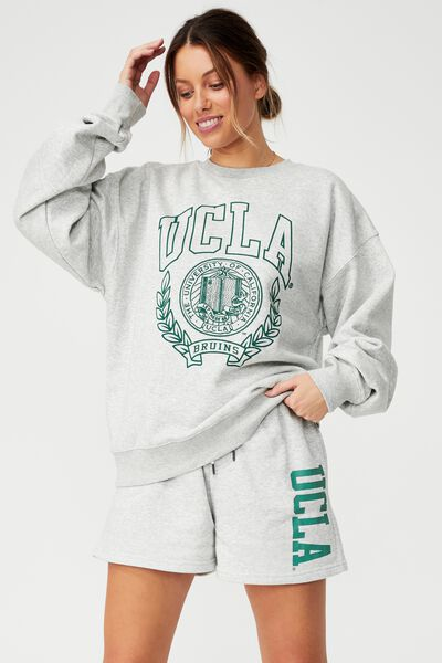 Collab Classic Crew, LCN LIGHT GM/ UCLA SHIELD HERITAGE GREEN