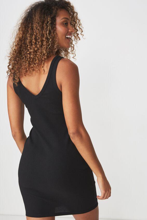 Rumi Quarter Zip Bodycon Mini Dress, BLACK RIB