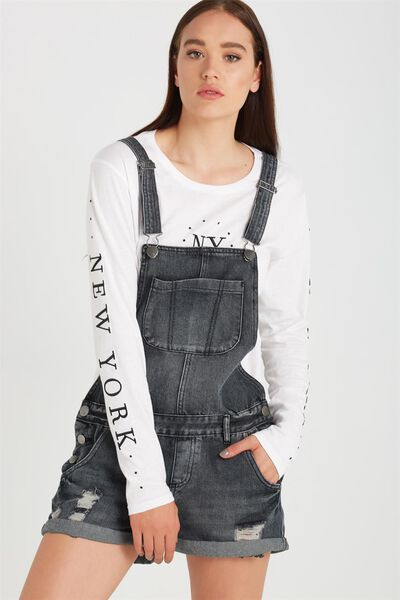 The Classic Overall, FADED BLACK