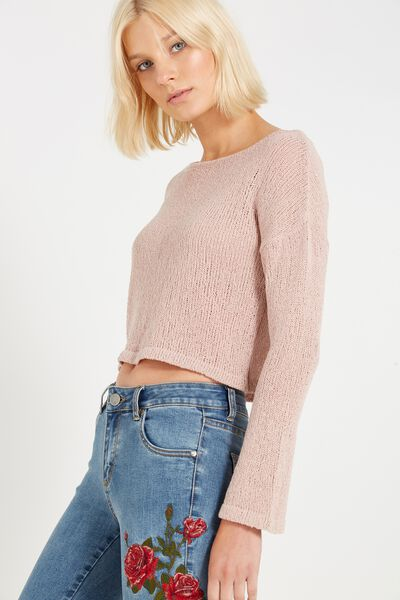 Mimi Chopped Pullover, SOFT PINIK