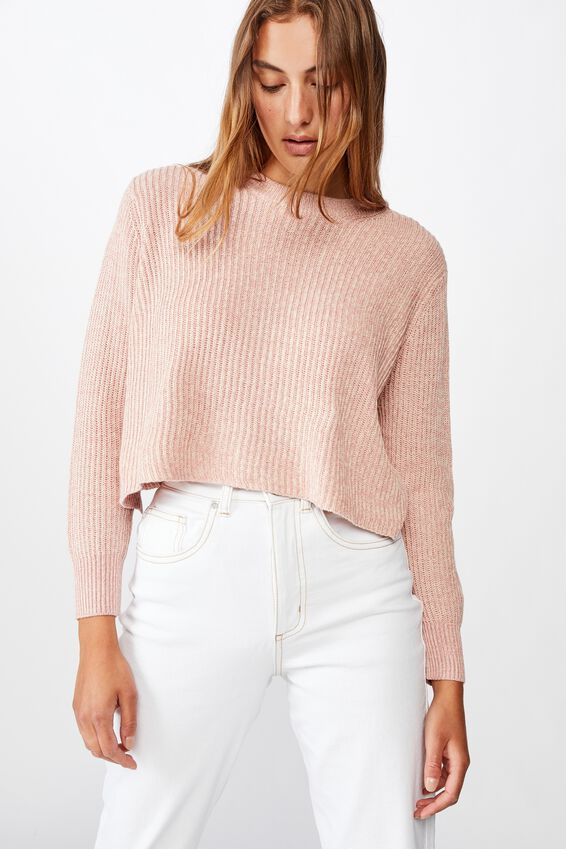 Archy Cropped 2 Pullover, BRIDAL ROSE TAPIOCA TWIST