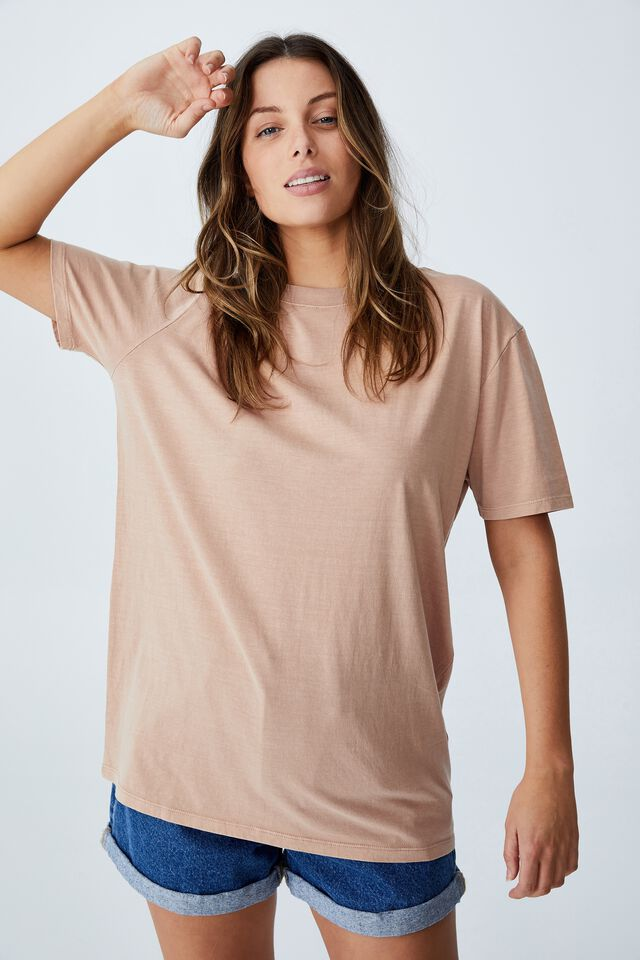 The Oversized Dad Tee, WASHED SOFT TAUPE