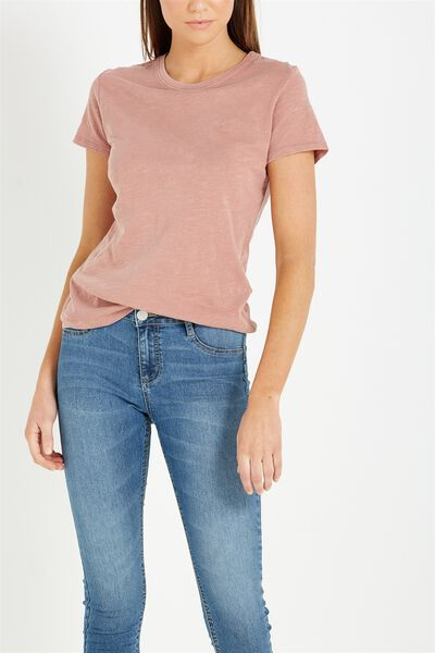 The Crew T Shirt, WASHED PINK HAZE