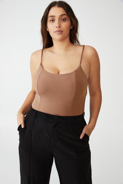 Curve Brianna Body Suit, COCOA BEAN
