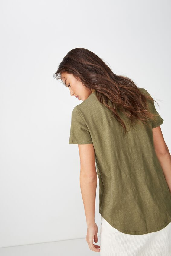 The Crew T Shirt, BURNT OLIVE