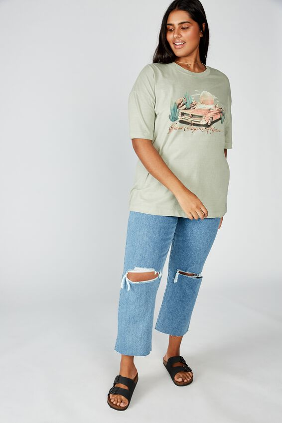 Curve Oversized Graphic Tee, GRAND CANYON/TEA