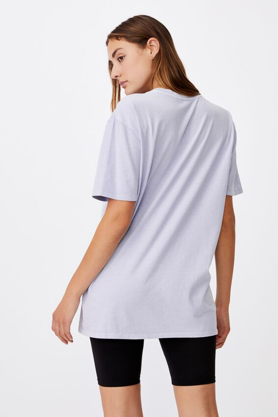 The Oversized Dad Tee, WASHED SILVER BLUE