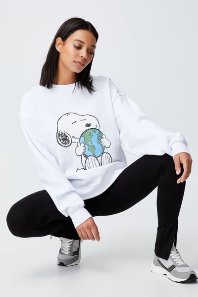 Collab Classic Crew, SNOOPY  EARTH/ WHITE