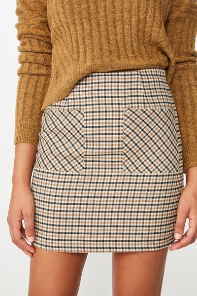 ab95792f0b2 Woven Aria Patch Pocket Mini Skirt