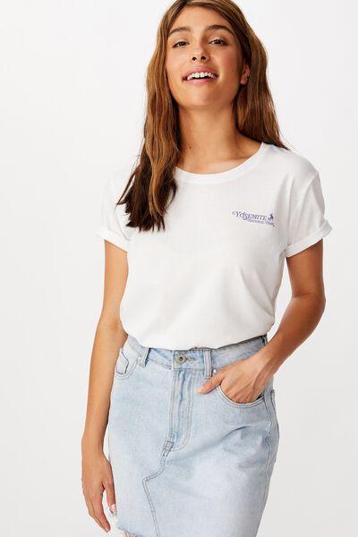 Classic Vintage T Shirt, YOSEMITE/WHITE