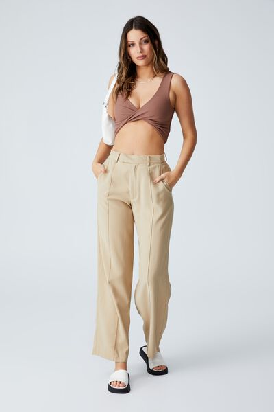 Day To Night Twist Front Tank, COCOA BEAN