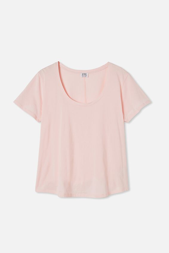 Curve The One Scoop Tee, SWEETHEART PINK