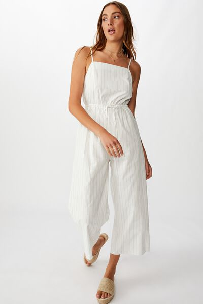 Woven Amanda Pinafore Jumpsuit, LEIGH STRIPE NOMAD