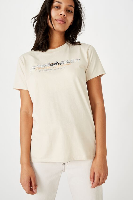 Classic Vintage Inspired T Shirt, HIGHWAY EIGHTY/BARLEY