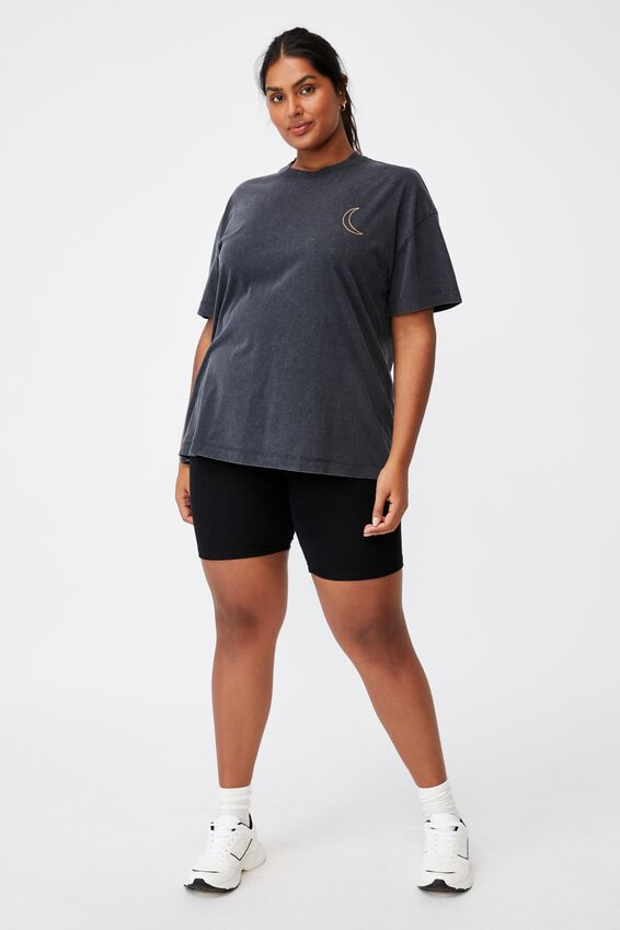 Curve Oversized Graphic Tee, OPEN YOUR MIND/BLACK