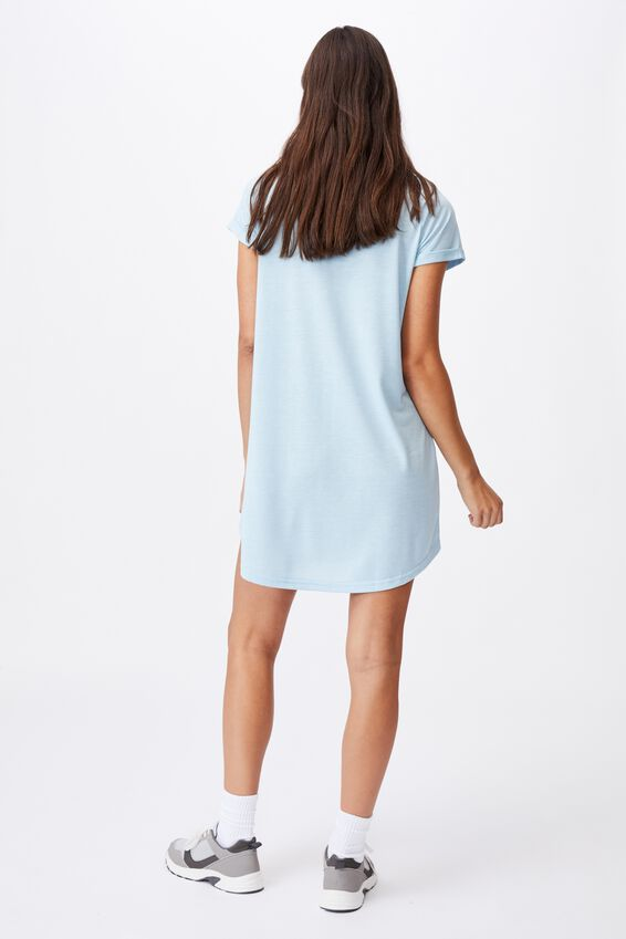 Tina Tshirt Dress 2, DAISY BLUE MARLE