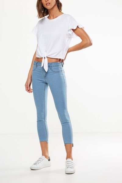 Mid Rise Capri Jegging, SEA BREEZE BLEACH BLUE