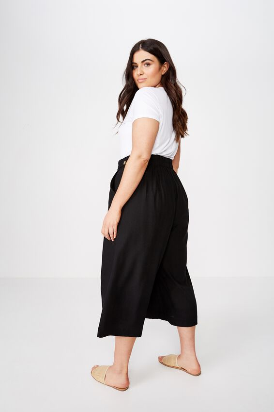 Curve Luna Button Culotte, BLACK