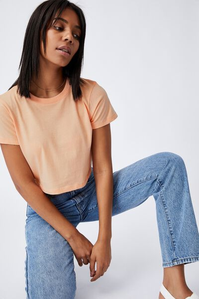 The Baby Tee, BRUSHED PEACH