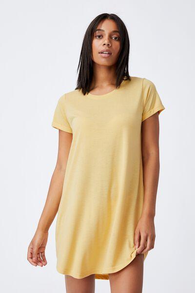 Tina Tshirt Dress 2, GOLDEN HOUR YELLOW MARLE