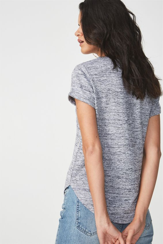 Kathleen Short Sleeve Top, GREYS TWIST