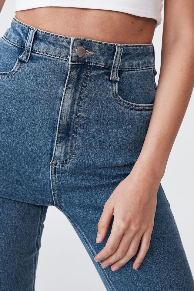 Ultra High Super Stretch Jean, COOGEE BLUE POCKETS