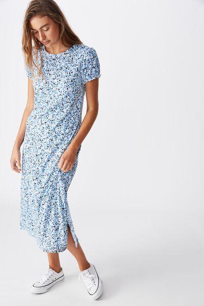 Mackayla Midi Dress, BRONTE DITSY PARISIAN BLUE