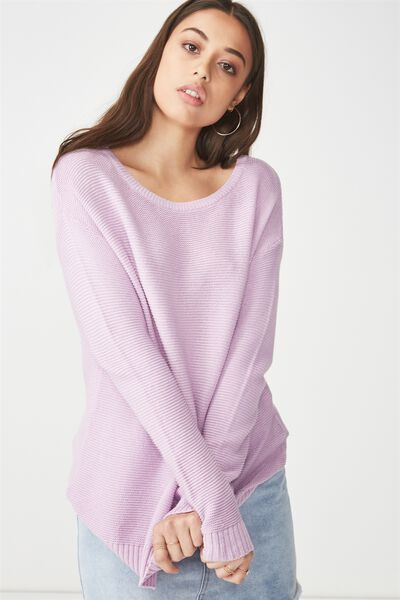 Archy 4 Pullover, KNITWEAR LILAC