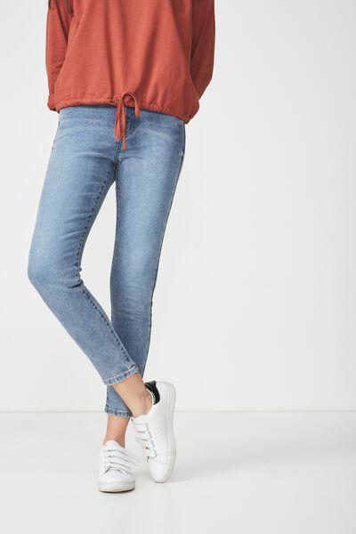 High Rise Grazer Skinny Jean, CRISP MID BLUE
