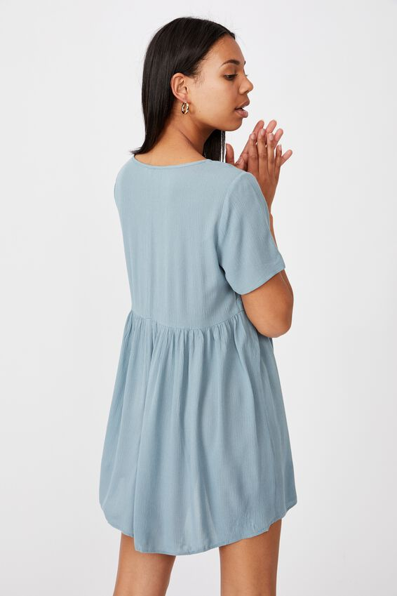 The Good Times Babydoll Mini Dress, NORTHERN SKY