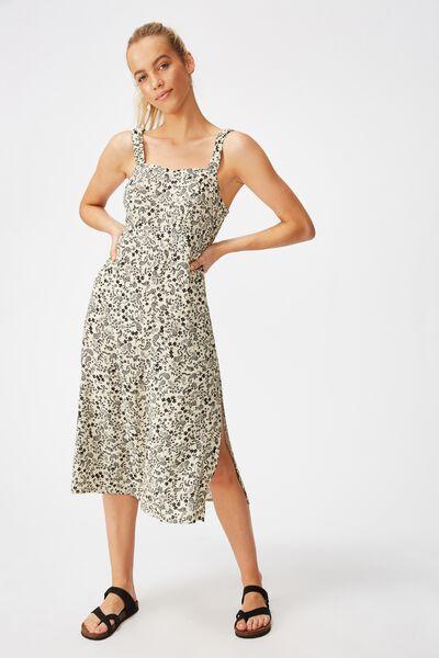 Woven Melanie Midi Slip Dress, BLAIR FLORAL PAISLEY PARCHMENT