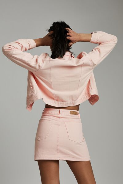 The Classic Denim Skirt, CLOUD PINK