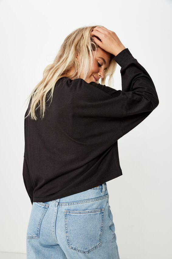 Tbar Brianna Graphic Long Sleeve, GENTILLESSE/BLACK