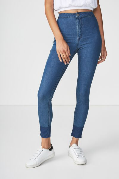 High Rise Jegging, MID BLUE SHADOW SPLICE