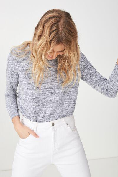 Kathleen Long Sleeve Top, GREYS TWIST
