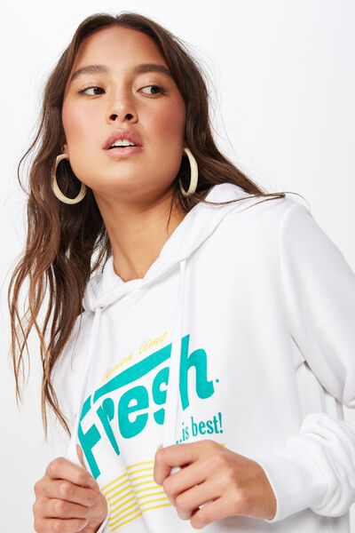 Delevingne Graphic Hoodie, FRESH IS BEST/WHITE